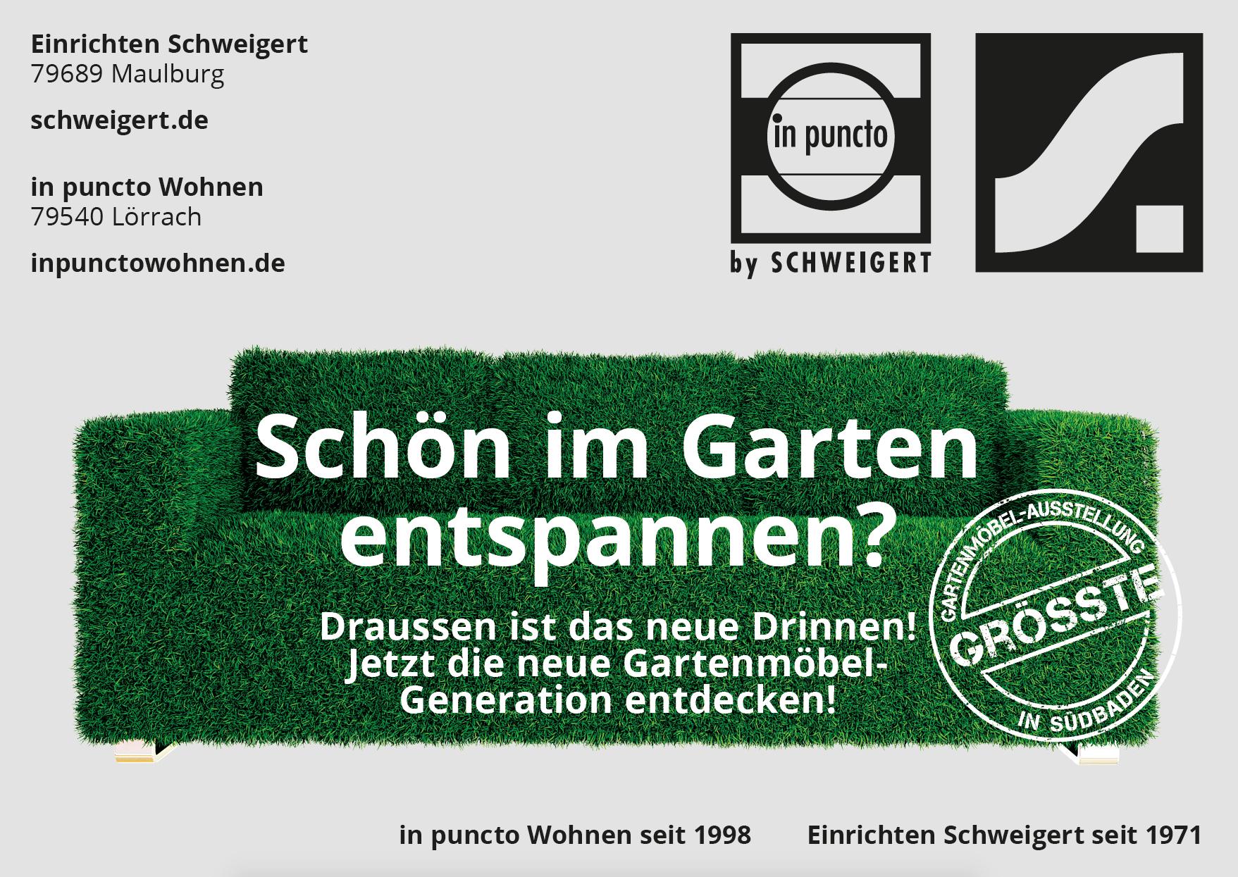 14f31140d3d182 Dass  Einrichten Schweigert  und  in puncto Wohnen  die größte  Gartenmöbel-Ausstellung in Südbaden haben