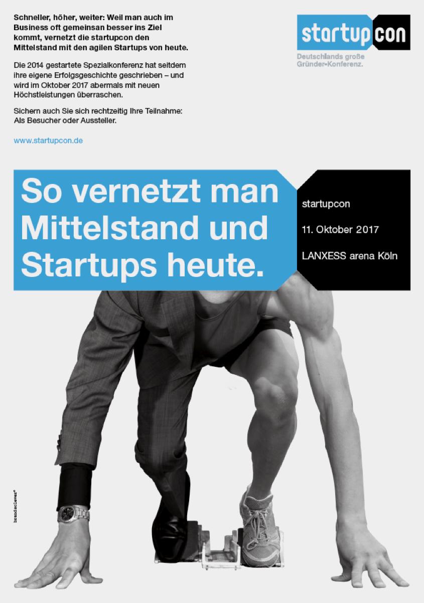 die im oktober in deutschlands grosster eventlocation lanxess arena in koln stattfindene grunderkonferenz rekrutiert in der ersten phase aussteller und